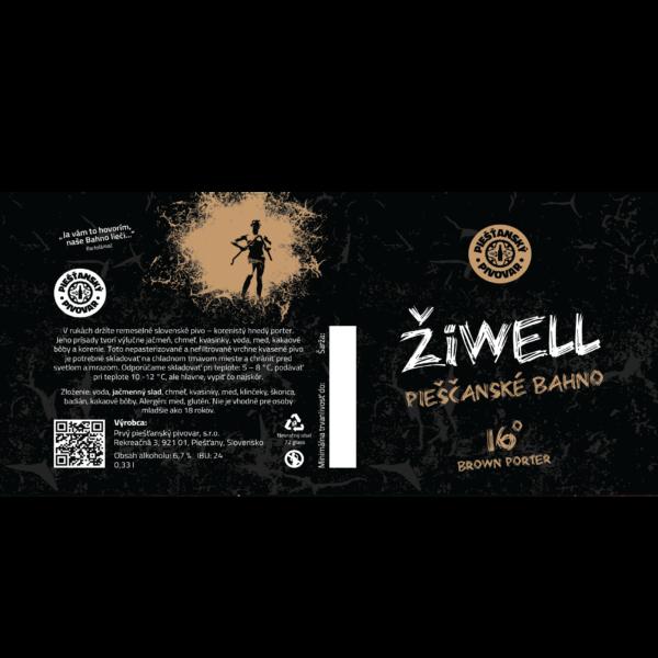 Pivná etiketa ŽiWELL Pieščanské Bahno